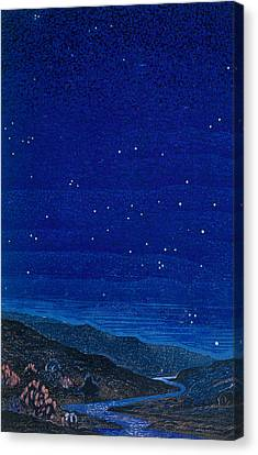 Nocturnal Landscape Canvas Print by Francois-Louis Schmied