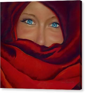 Hidden Face Canvas Print - Noemie by Marie-Claire Dole