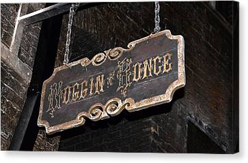 Noggin And Bonce Sign  Canvas Print by David Lee Thompson