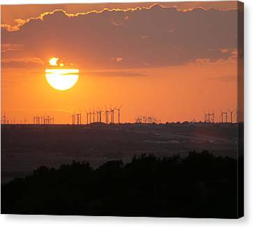 Nolan County Sunset Canvas Print by Miriam Tiritilli