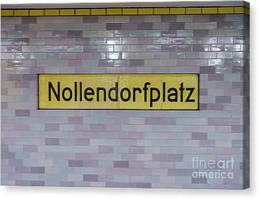 Ubahn Canvas Print - Nollendorfplatz by Jannis Werner