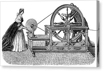 Nollet Electrostatic Generator Canvas Print by Science Photo Library