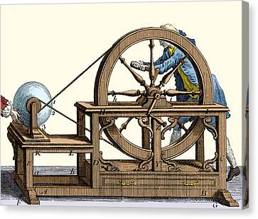 Nollet Electrostatic Machine, 1750 Canvas Print by Wellcome Images