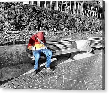 Homeless Man Canvas Print