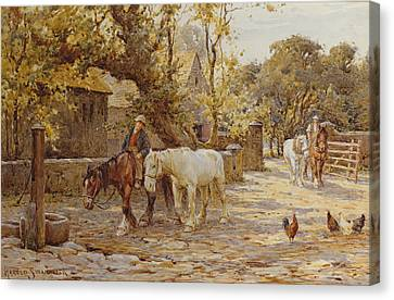 Noon Day  Canvas Print by Joseph Harold Swanwick