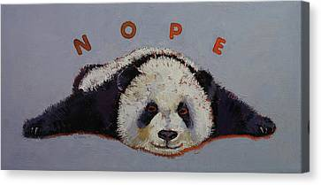 Panda Canvas Print - Nope by Michael Creese