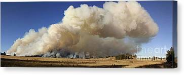 Norbeck Prescribed Fire Smoke Column Canvas Print
