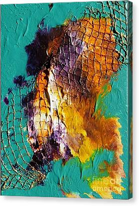 Canvas Print featuring the painting Nordic Abstract by Susanne Baumann