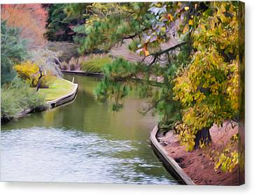 Norfolk Botanical Gardens Canal 7 Canvas Print by Lanjee Chee