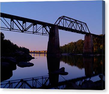Norfolk-southern Crossing-1 Canvas Print