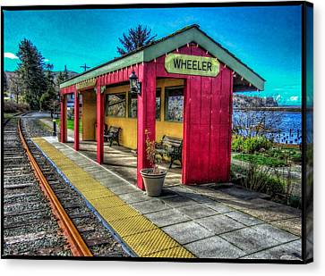 Canvas Print featuring the photograph Norm Laknes Train Station by Thom Zehrfeld