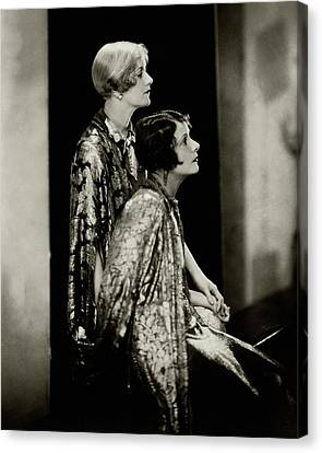 Norma And Constance Talmadge Canvas Print by Edward Steichen