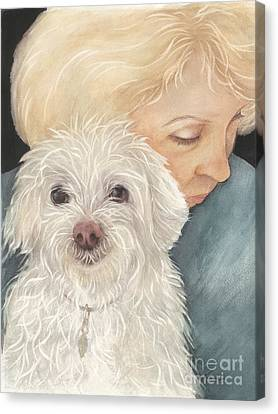 Norma And Mr. Trouble Canvas Print by Nan Wright
