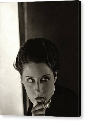 Norma Shearer As Kothe Of Old Heidelberg Canvas Print by Edward Steichen