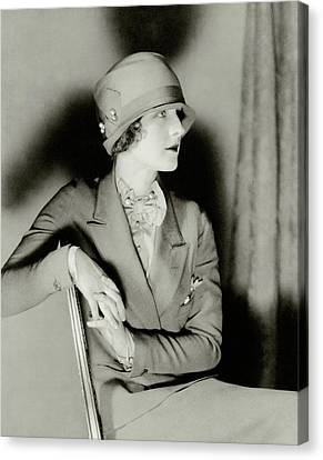 Cloche Hat Canvas Print - Norma Shearer Wearing A Cloche Hat by Charles Sheeler