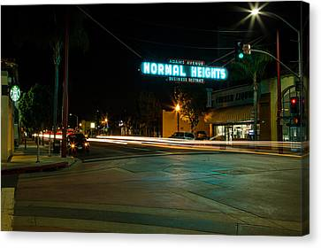 Normal Heights Neon Canvas Print by John Daly
