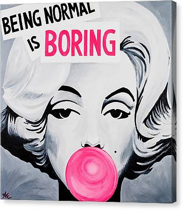 Normal Is Boring Canvas Print by Alexa Epstein