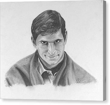 Norman Bates Portrait Canvas Print by M Oliveira