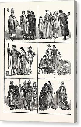 Norman Costumes Of The Eleventh And Twelfth Centuries 1 Canvas Print by English School