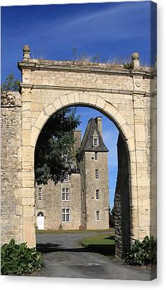 Norman Manor Arched Door Canvas Print