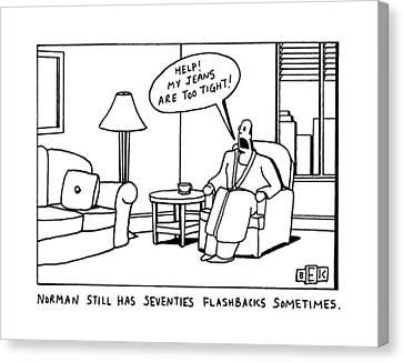 Norman Still Has Seventies Flashbacks Sometimes Canvas Print