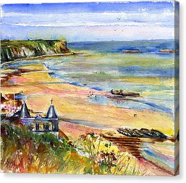 Normandy Beach Canvas Print