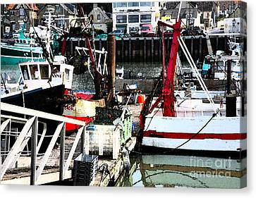Normandy Fishing Port Scenery Canvas Print by Niels Quist