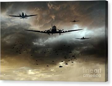 Normandy Invasion Canvas Print by J Biggadike