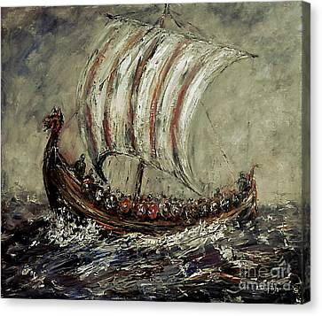 Norse Explorers Canvas Print by Arturas Slapsys