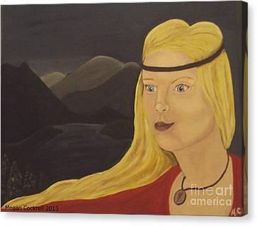 Norse Goddess Freya Canvas Print by Megan Cockrell