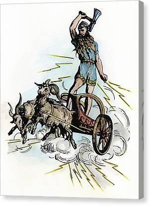 Norse Mythology Thor Canvas Print by Granger