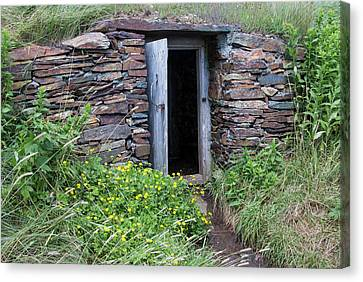 North America, Canada, Nl, Root Cellar Canvas Print by Patrick J. Wall