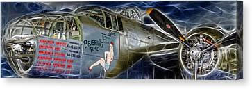 North American B-25 Mitchell Bomber  Canvas Print by Lee Dos Santos