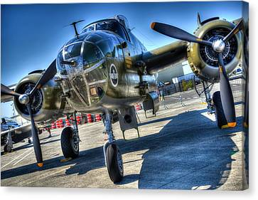 North American B25 Bomber Canvas Print by Spencer McDonald