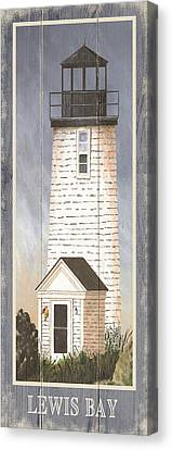 North American Lighthouses - Lewis Bay Canvas Print by Gail Fraser