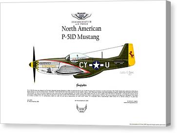 North American P-51d Mustang Gunfighter Canvas Print