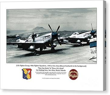 Canvas Print featuring the photograph North American P-51d Mustang by Kenneth De Tore