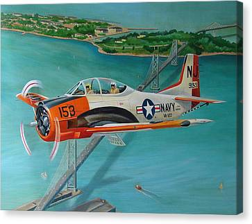 North American T-28 Trainer Canvas Print by Stuart Swartz