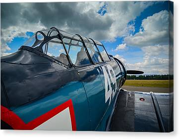 North American T-6g  Texan  Canvas Print by Puget  Exposure