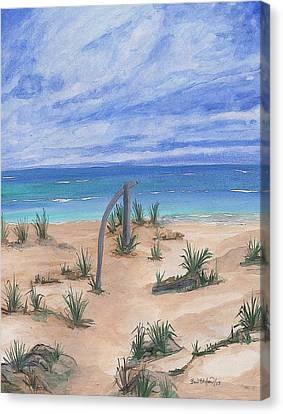 North Beach Haida Gwaii Bc Canvas Print by Barbara St Jean