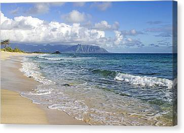 North Beach Kaneohe 7 Watermarked Canvas Print