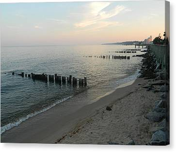 Canvas Print featuring the photograph North Beach Sunset by Emmy Marie Vickers