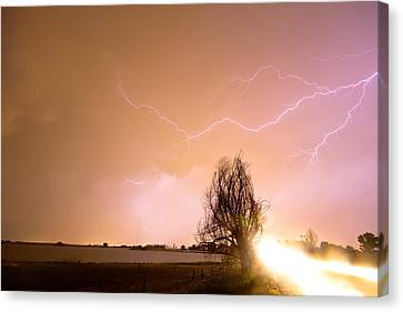 The Lightning Man Canvas Print - North Boulder County Colorado Lightning Strike by James BO  Insogna