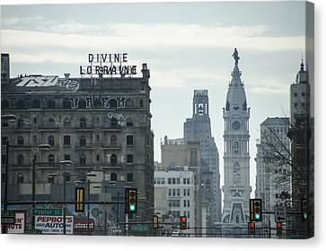 Cityhall Canvas Print - North Broad Street by Bill Cannon
