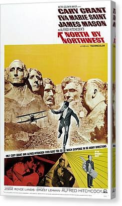 North By Northwest - 1959 Canvas Print by Georgia Fowler