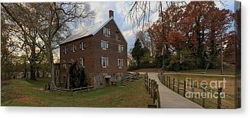 North Carolina 1823 Grist Mill Panorama Canvas Print by Adam Jewell