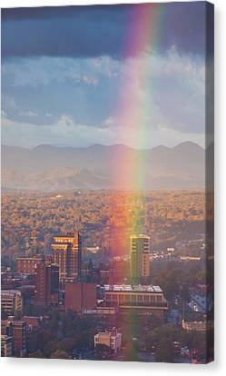 North Carolina, Asheville, Elevated Canvas Print