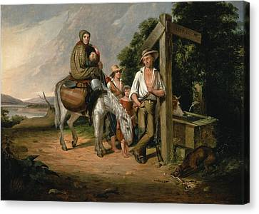 North Carolina Emigrants, Poor White Folks, 1845 Oil On Canvas Canvas Print by James Henry Beard