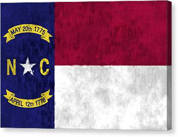 North Carolina Flag Canvas Print by World Art Prints And Designs