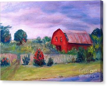 Canvas Print featuring the painting North Carolina  by Marcia Dutton